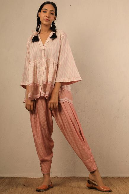 Printed Ankle Cuff Pants