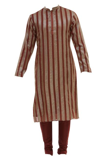 Chanderi Bundi & Kurta Set