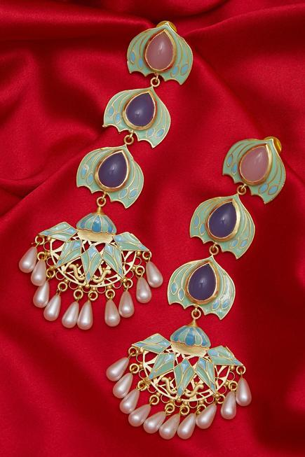 Handcrafted Stone Earrings