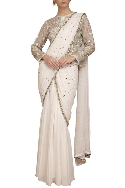 Pre-Stitched Saree with Blouse