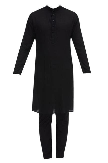 Cotton Bundi Kurta Set