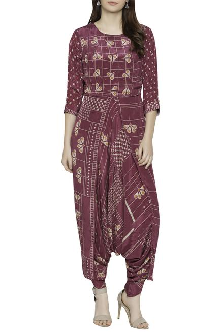 Layered Cowl Jumpsuit
