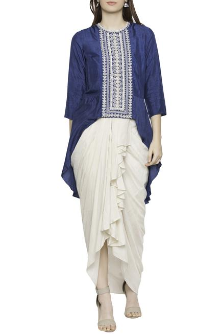 Draped Skirt With Top