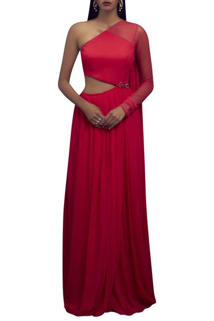 One Shoulder Gown