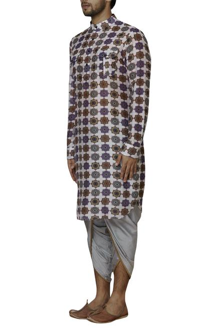 Chanderi Pathani Kurta