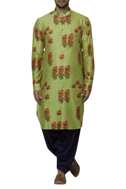 Chanderi Printed Kurta