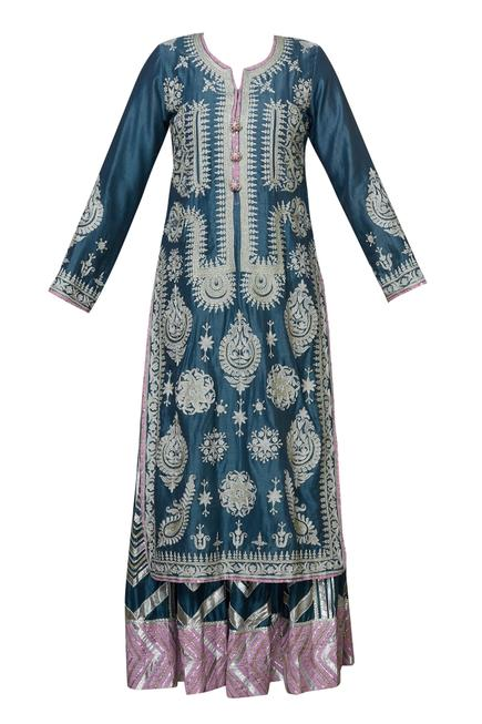 Chanderi Kurta Gharara Set