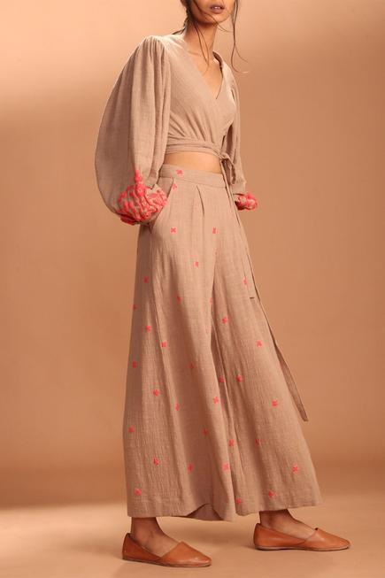 Embroidered Palazzo