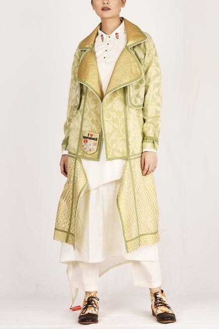 Embroidered Asymmetrical Jacket