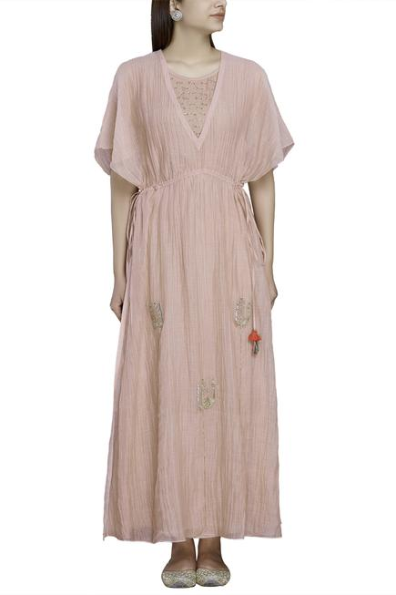 Chanderi Kaftan Dress