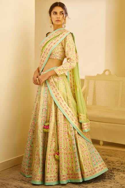 Raw Silk Lehenga Set