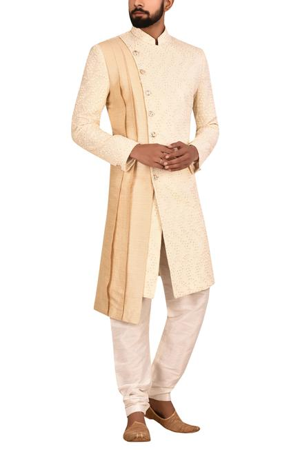 Layered Sherwani Set