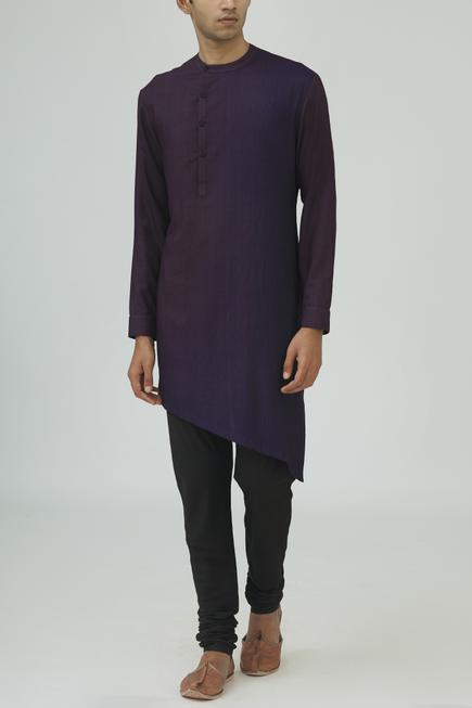 Cotton Silk Dyed Kurta Set