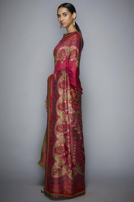 Printed Saree with Unstitched Blouse