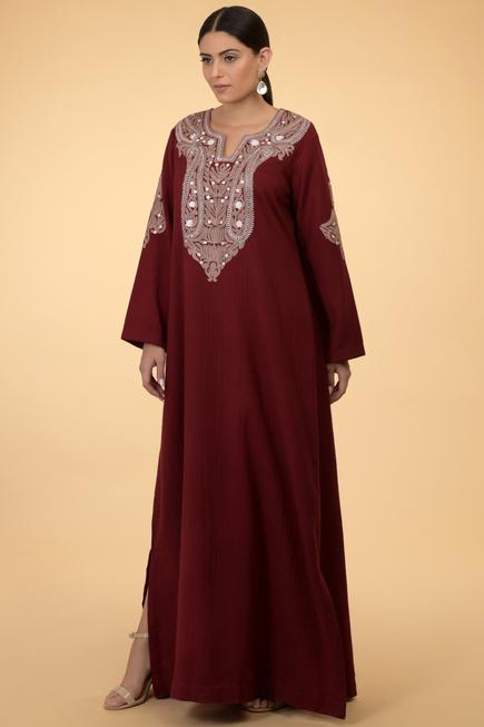 Wool Embroidered Kaftan