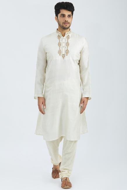 Organic Silk Embroidered Kurta