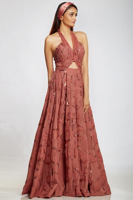 Halter Flared Gown