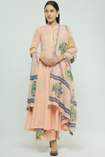 Printed Flared Kurta Set