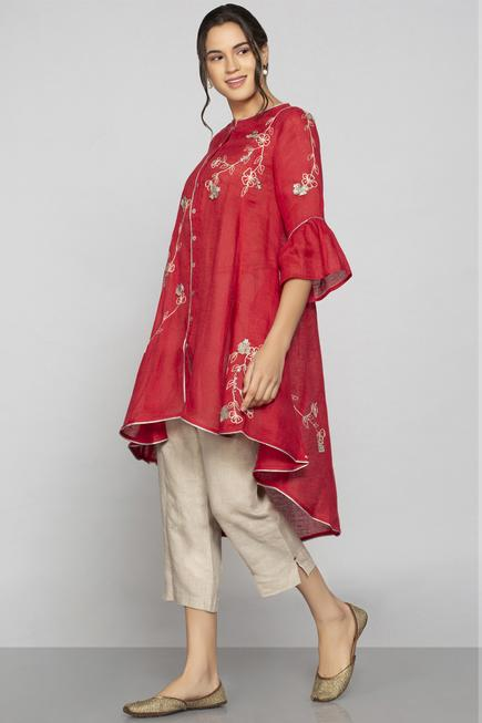 Linen Embroidered Tunic