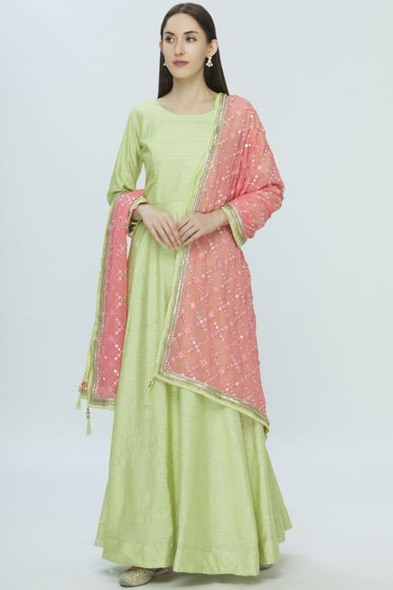 Embellished Anarkali Set