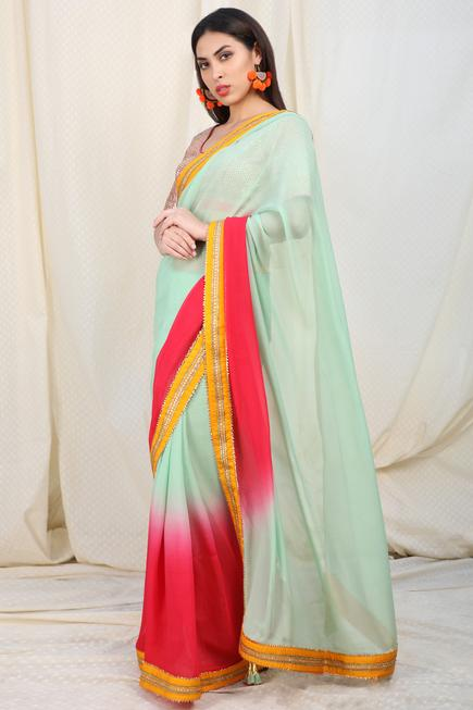 Embellished Saree with Blouse