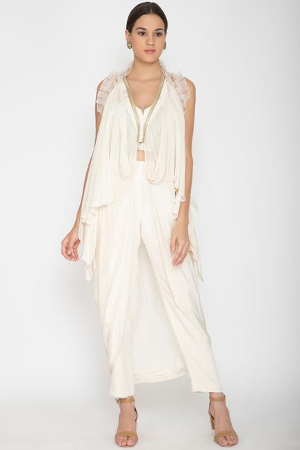 Embellished Cape with Top