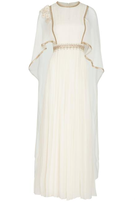 Embellished Cape Gown