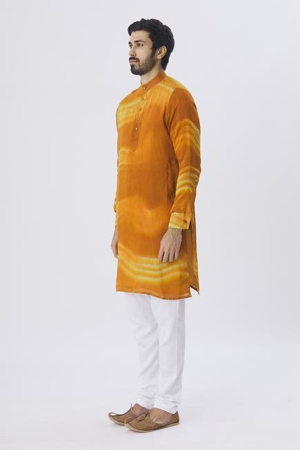 Silk Chanderi Kurta