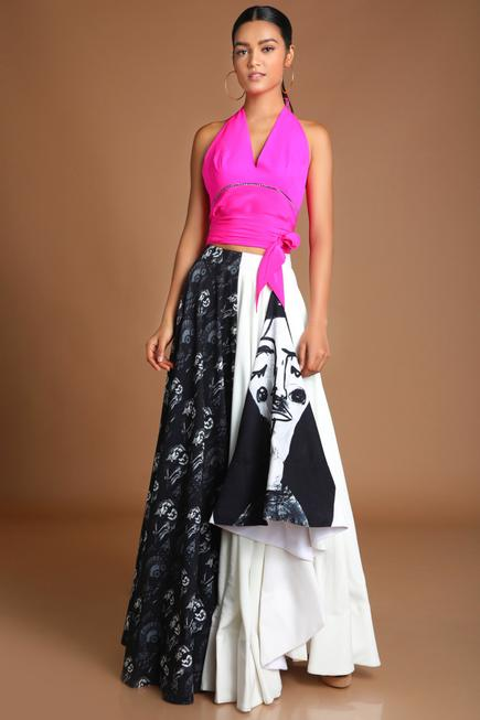 Printed Skirt Set