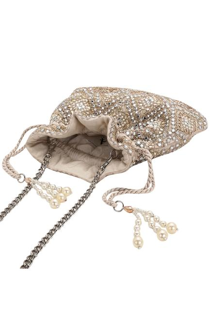 Velvet Embellished Potli Bag