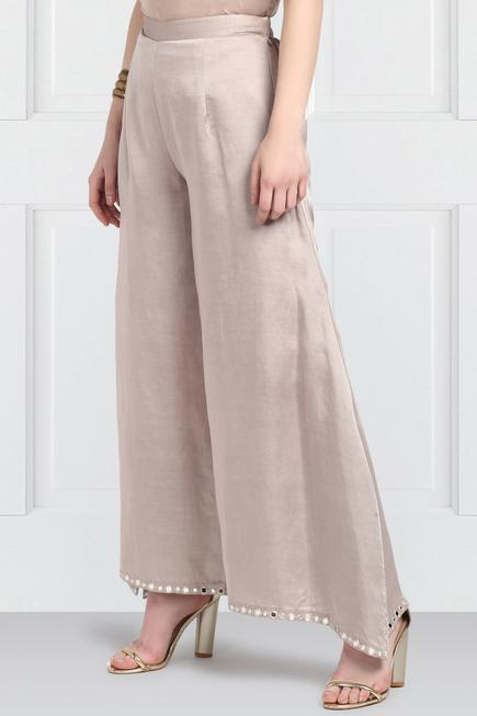 Chanderi Flared Pants