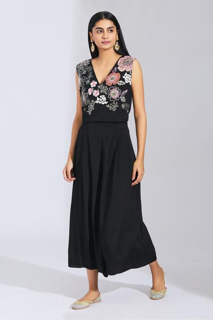 Embroidered Top & Culotte Set