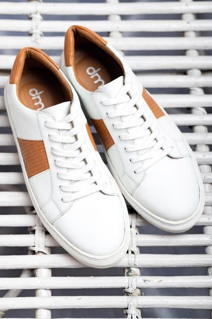 Handcrafted Paneled Sneakers