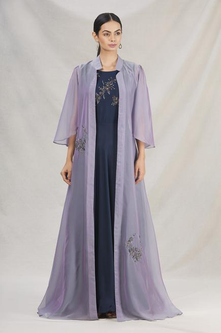 Embroidered Gown with Jacket