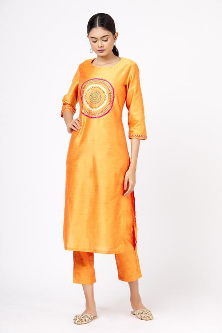 Mirror Embellished Kurta & Pant Set