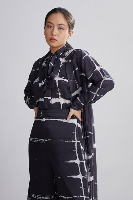 Shibori Chanderi Silk Jacket