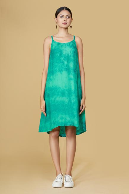 Organza Dyed Tiered Dress