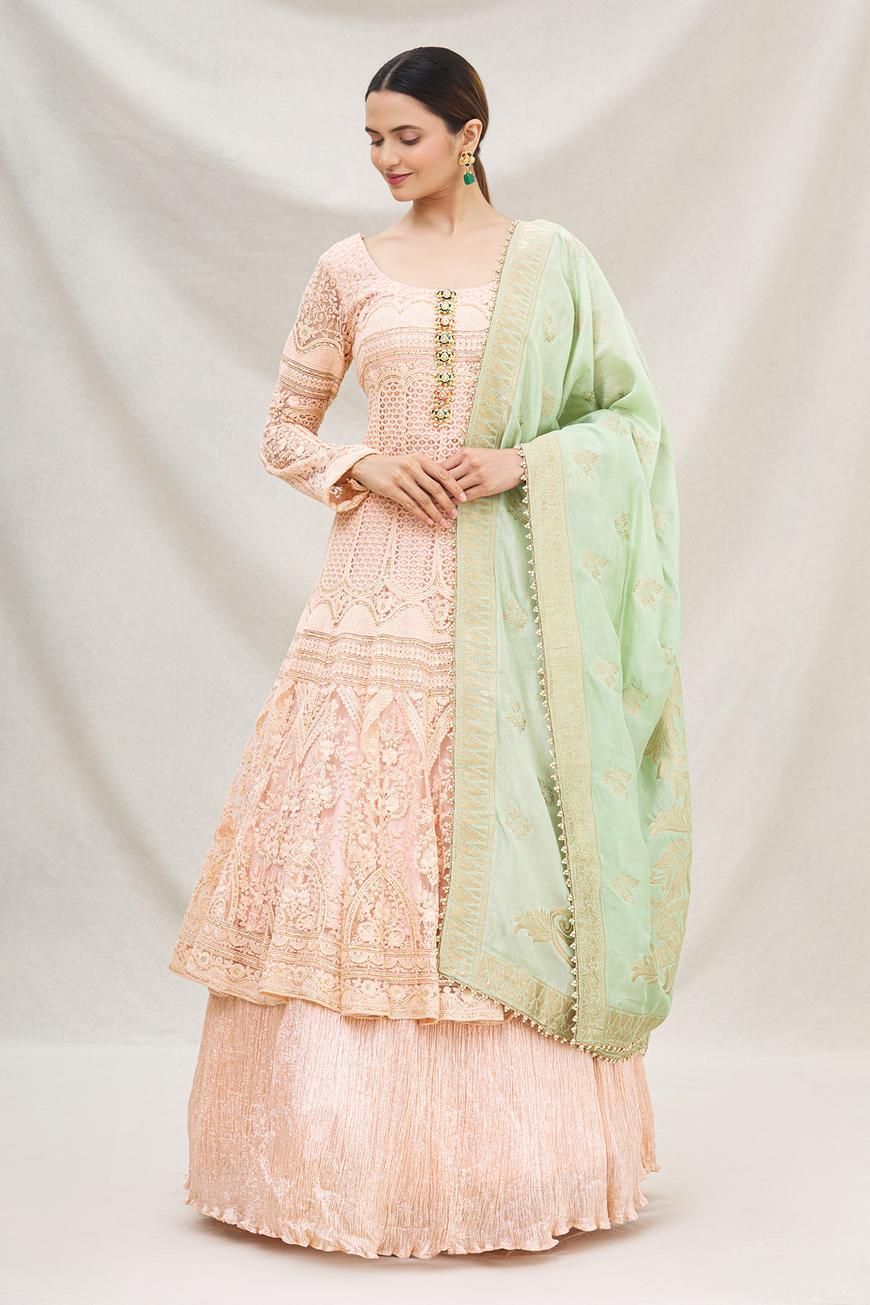 Lucknowi Anarkali & Lehenga Set