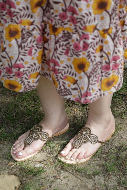 Sarah Embroidered Sandals