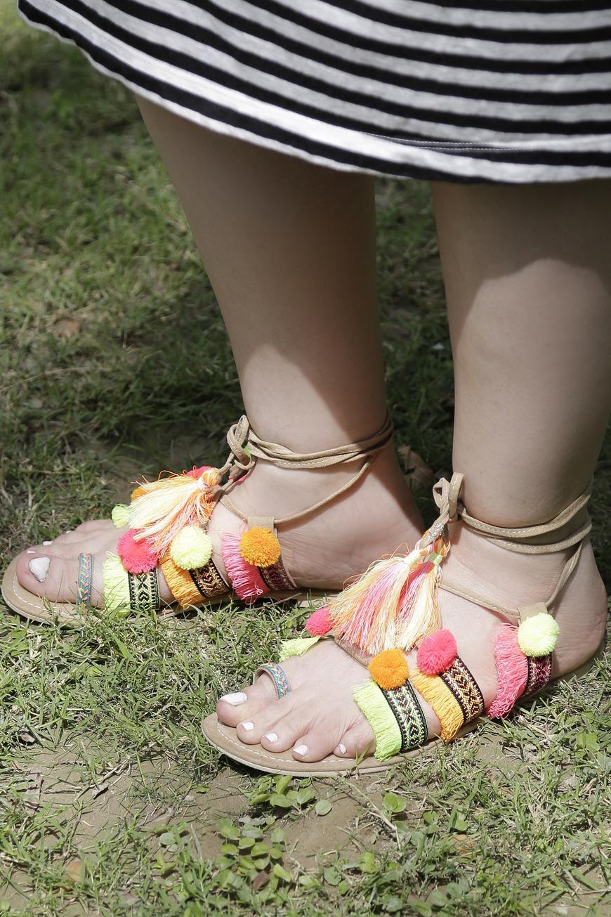 Esha Tie Up Vegan Sandals