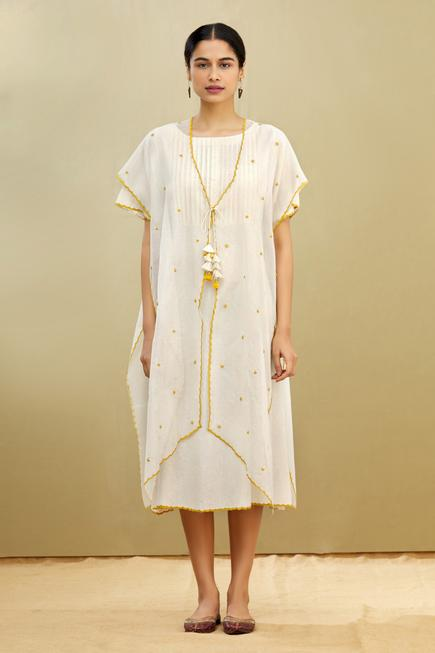 Tunic with Embroidered Poncho