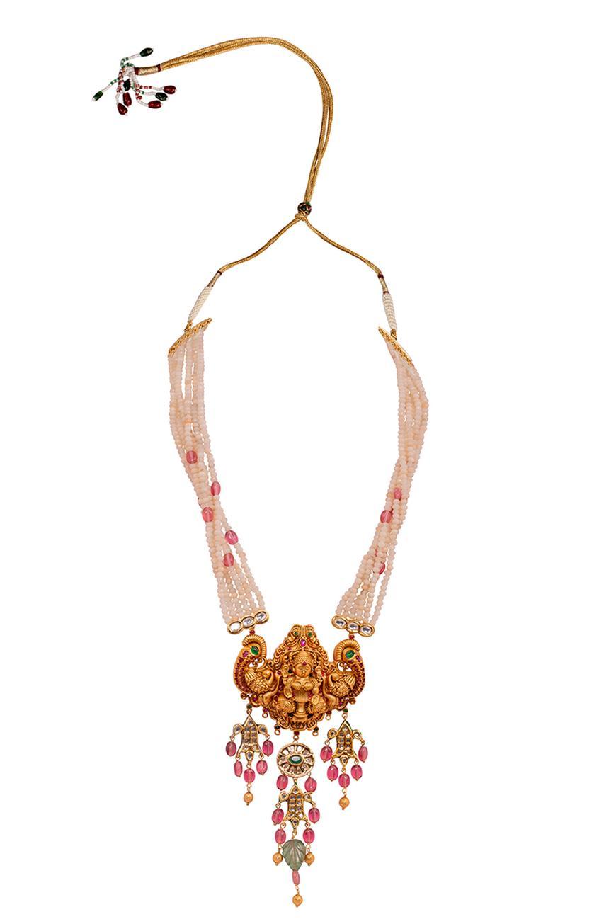 Adhishri Temple Pendant Necklace Set