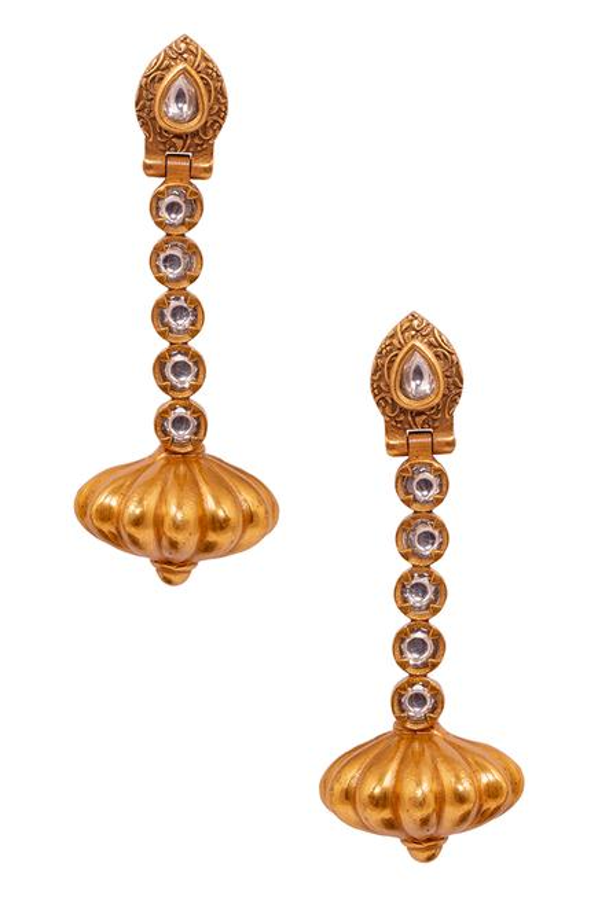 Narmada Temple Pendant Necklace Set