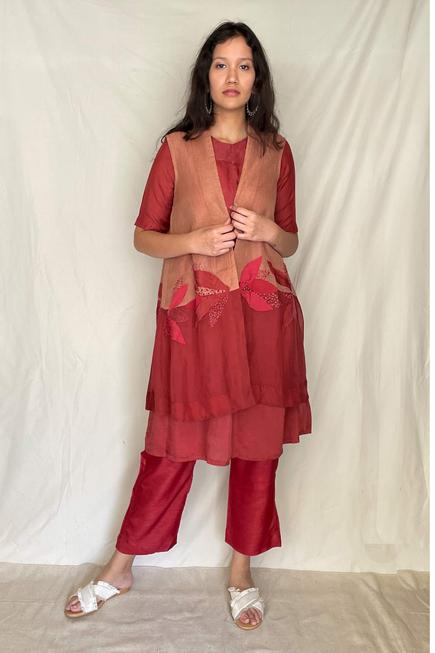Embroidered Tunic with Jacket