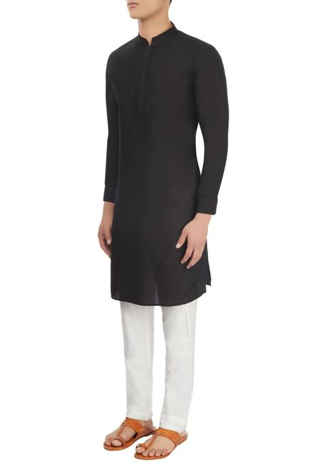 Band Collar Kurta