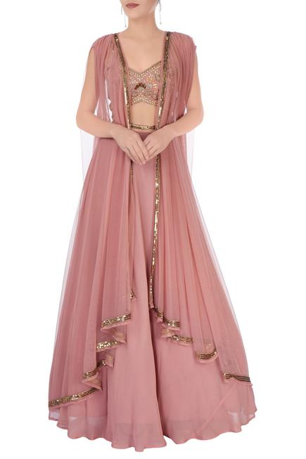 Onion pink lehenga set