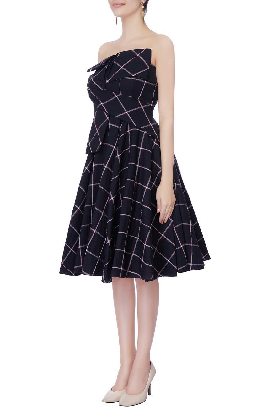 Checkered Bandeau Dress