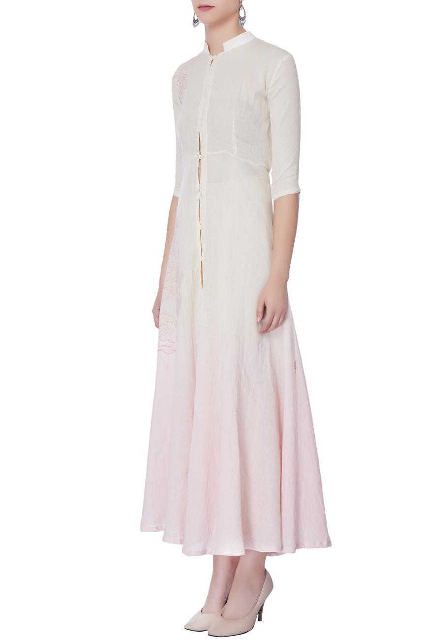 Off-white & pink long jacket