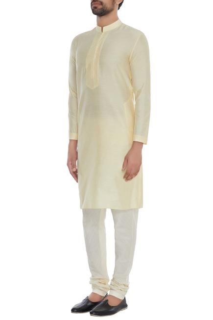 Cotton Silk Kurta & Pant Set