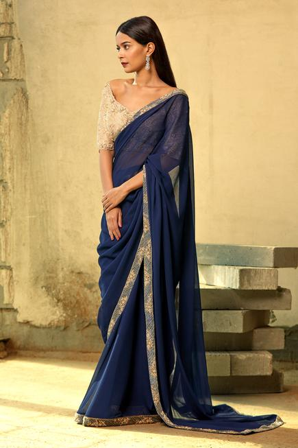 Saree with Embellished Blouse